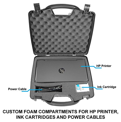 Casematix Portable Printer Carry Case Designed for HP