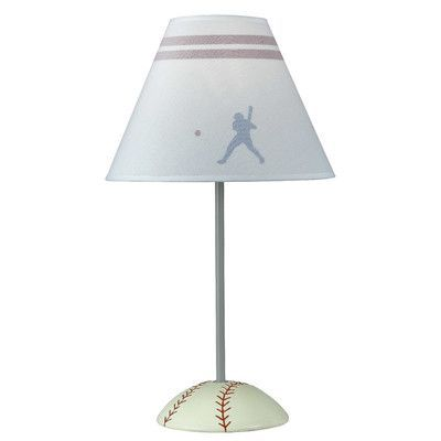 "Cal Lighting Baseball 20"" H Table Lamp with Empire Shade"