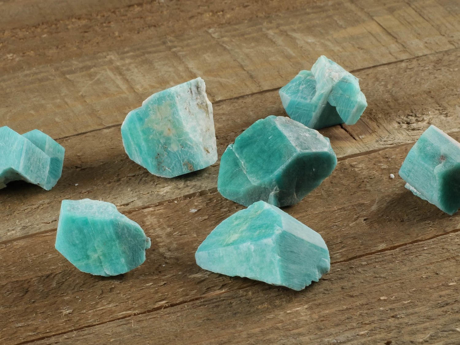 1 Medium Rough Amazonite Crystal Raw Amazonite Stone Raw