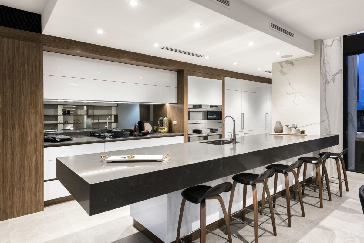 Marble Kitchen And Feature Wall Cladding Completed By Aurora Stone Perth Wa So In Love Modern Kitchen Design Luxury Kitchens New Kitchen Designs