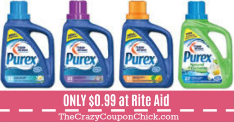 Purex Laundry Detergent Only 0 99 At Rite Aid 10 01 Purex