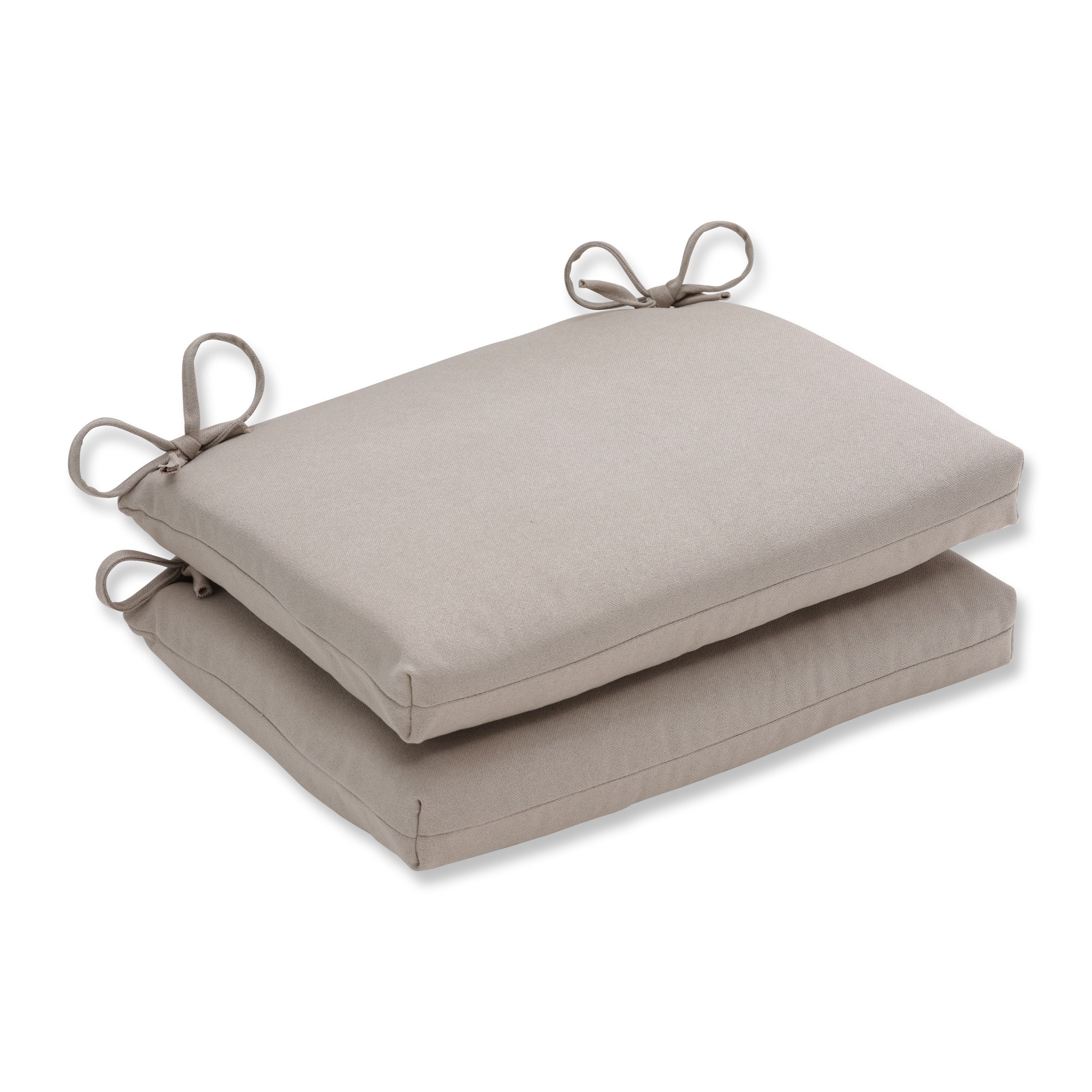 Pillow Perfect Outdoor Beige Squared Seat Cushions Set Of 2