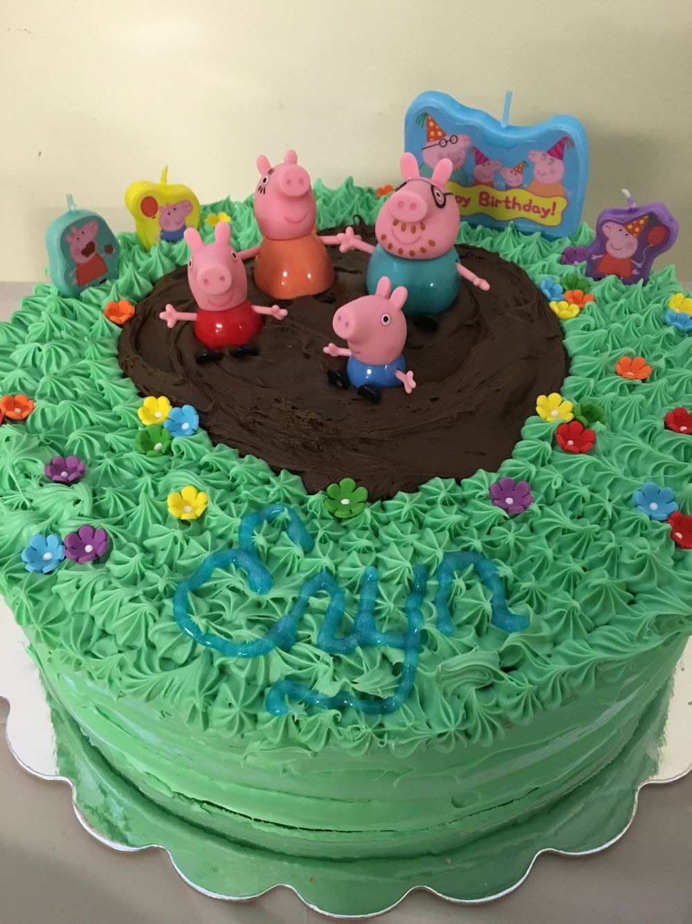 Peppa Pig Muddy Puddles Cake Peppa Pig Birthday Cake Pig
