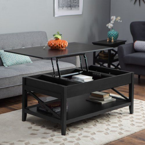 350 Belham Living Hampton Lift Top Coffee Table Black Coffee