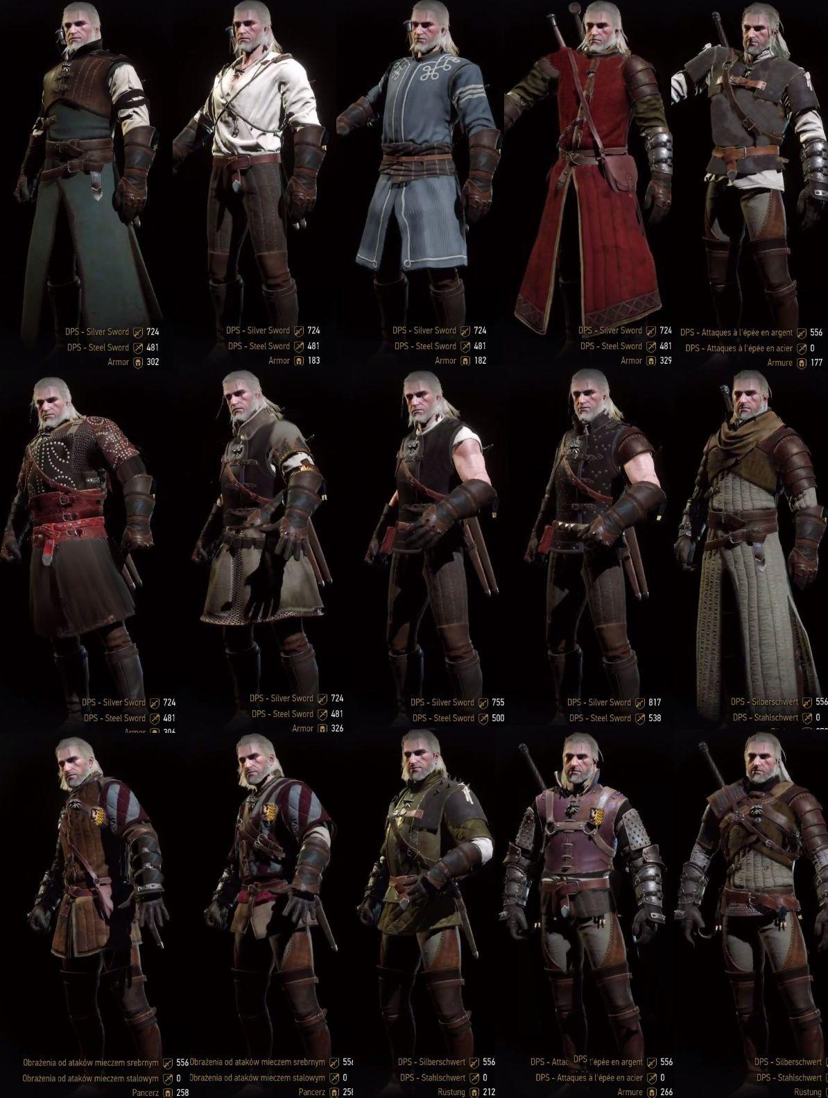 Bildresultat för witcher 3 wolf armor
