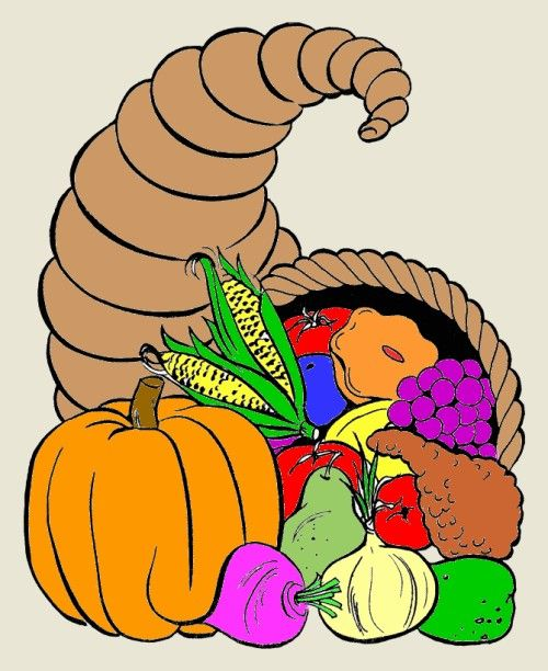 Cornucopia Coloring Pages Free Printable Thanksgiving Fun