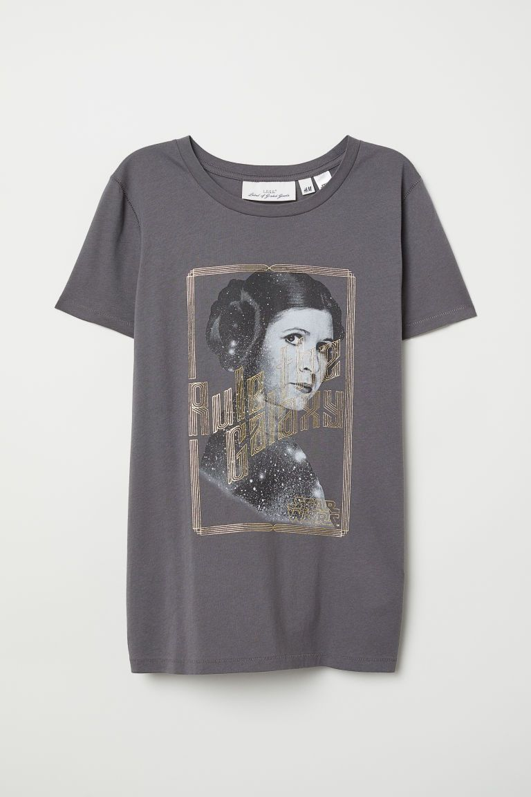 Girls Heather Gray Star Wars Leia Tee Shirt Girls Rule The Galaxy T-Shirt