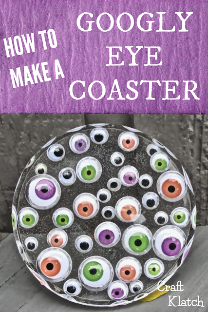 Photo of DIY Googly Eye Resin Coaster