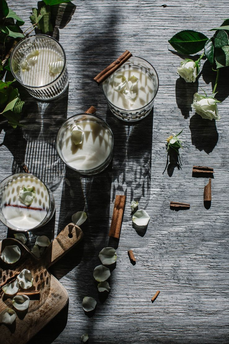 This Cinnamon Rose Punch Recipe / @localmilk Is A Blissful Eggnog-Alternative | @westelm