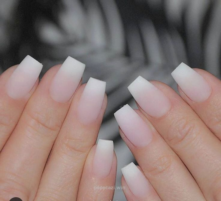 these Matte Ombré French Acrylics Nails -no polish… | Acrylic Nail ...
