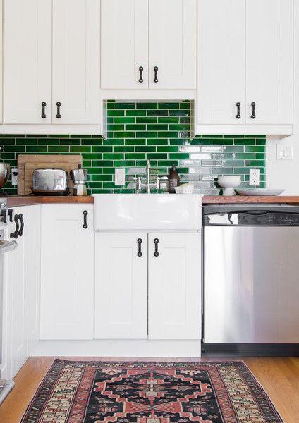 In The Kitchen Budget Kitchen Remodel Green Kitchen Backsplash