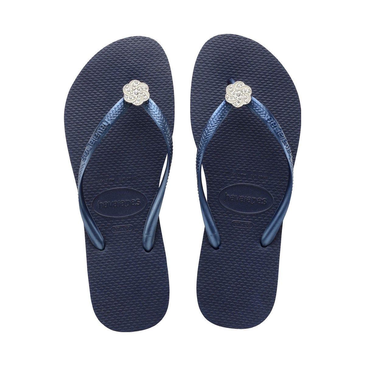 20f09d69b HAVAIANAS SLIM CRYSTAL POEM NAVY BLUE NAVY BLUE.  havaianas  shoes  all