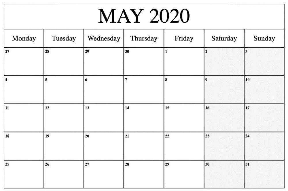 10 Best Editable May 2020 Calendar Printable Calendar Printable Calendar Word Calendar Printables January Calendar