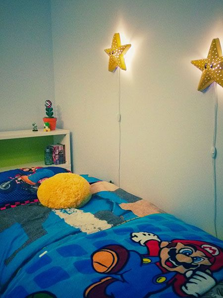 Ikea Hack How To Transform A Wall Lamp Into A Super Mario Bros Star