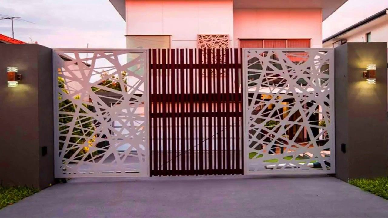 New 2018 30 Modern Main Gate Ideas Creative Front Gate Wood Steel