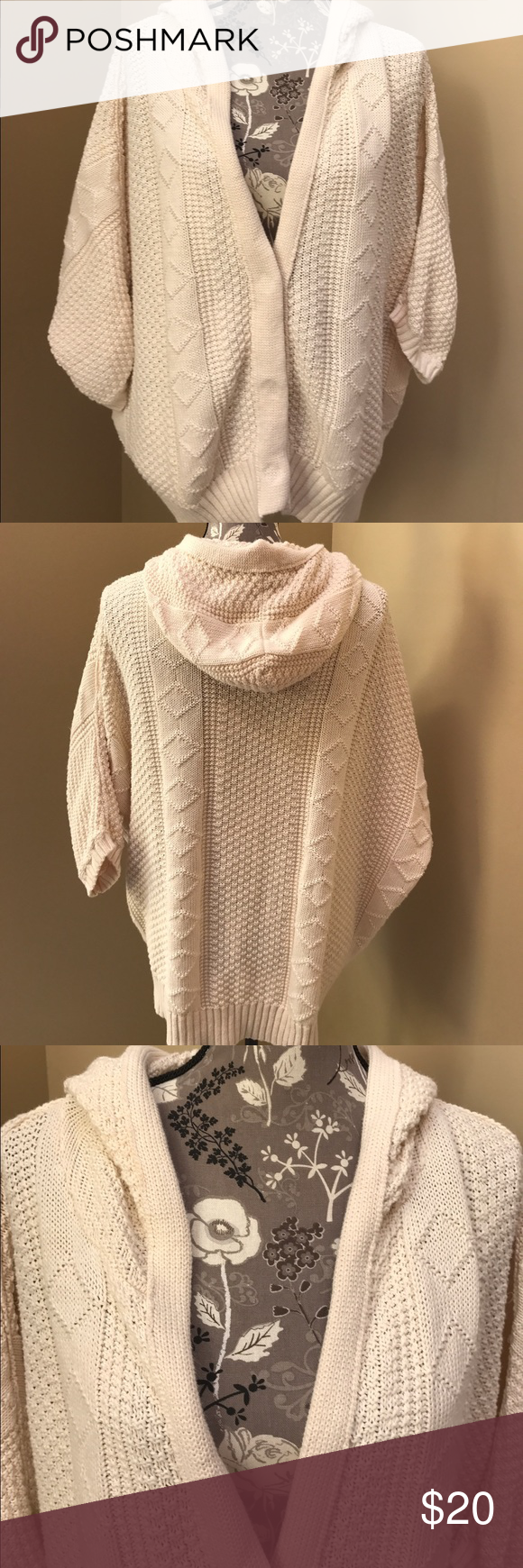 Free People knit sweater Free People cream colored knit sweater ...