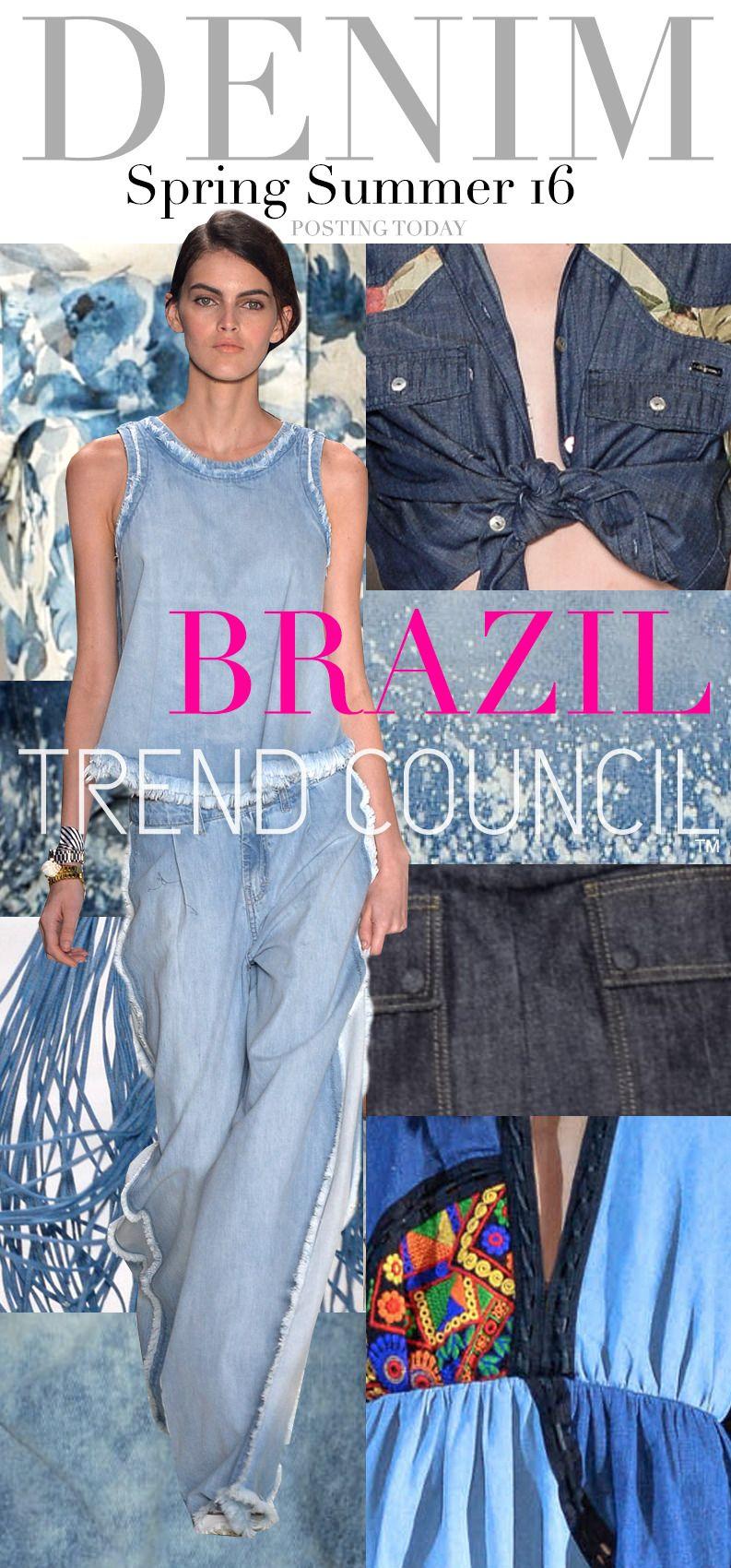 TREND COUNCIL SS 2016- DENIM BRAZIL | Women's Denim ...