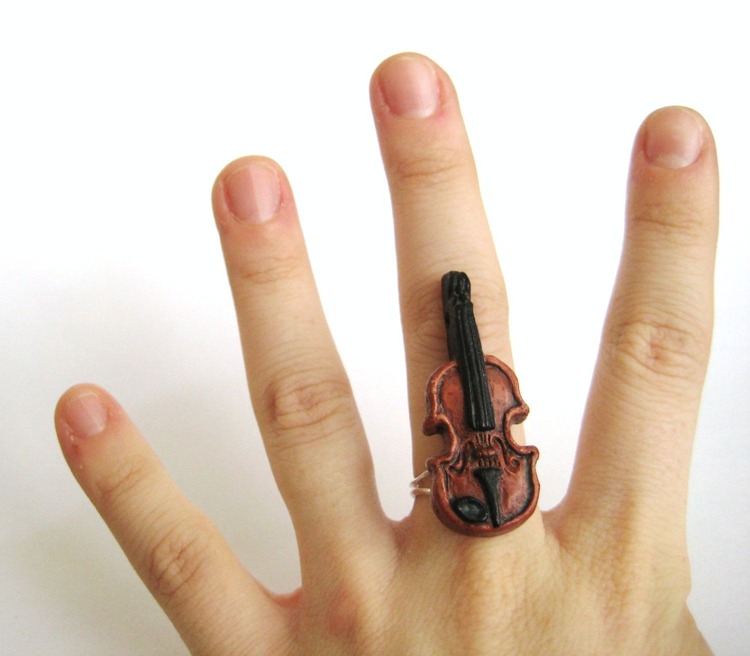on ring original note rin sterling handmade product treble wire music rings silver clef