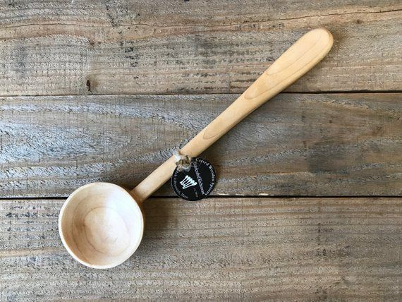 Round Bowl Serving Spoon Ladle, Made in Maine, USA