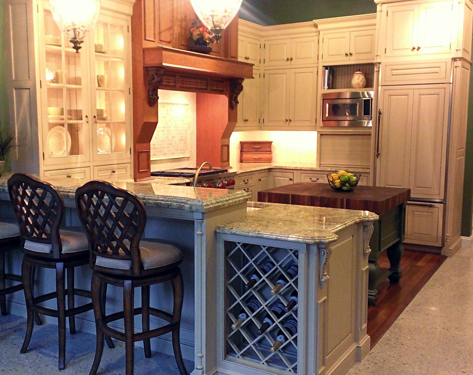 Elegant Rustic Kitchen Design Kenwood Kitchens In Lutherville Maryland Two Tone Kitchen Cabin Rustic Kitchen Rustic Kitchen Design Kitchen Remodel Design