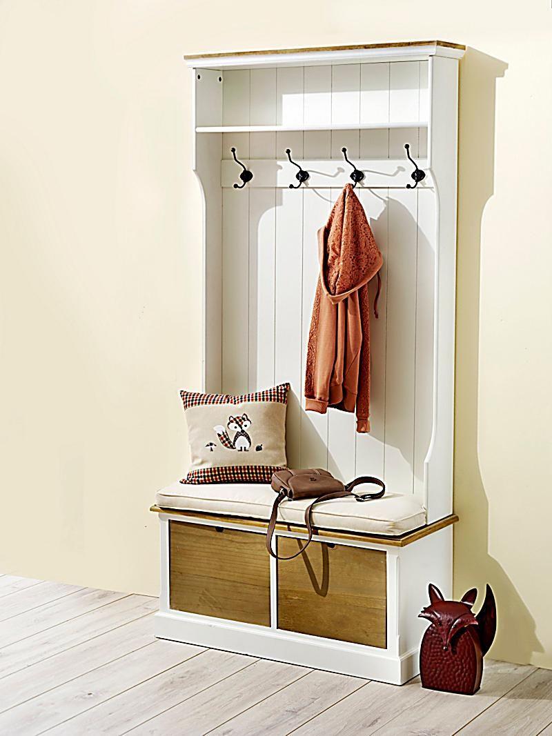 garderobe mit bank provence wohnen einrichten pinterest garderobe mit bank garderobe. Black Bedroom Furniture Sets. Home Design Ideas