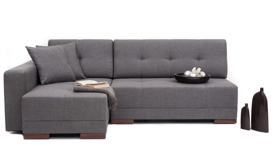 Convertable Sofa Bed Grey Sectional Sofa With Chaise NYFU Den