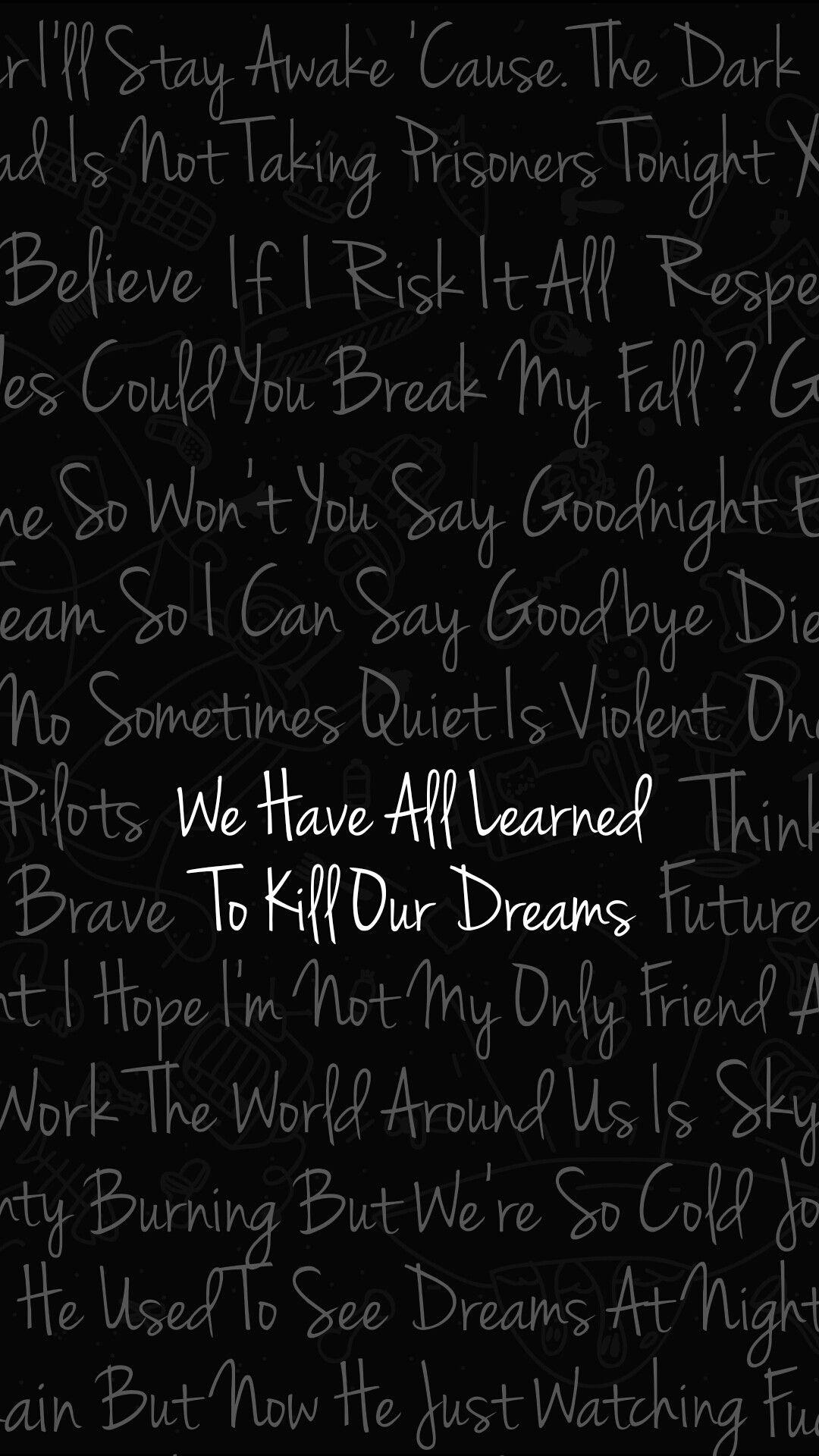 Twenty One Pilots Wallpaper Of Best Lyrics Tyler Joseph