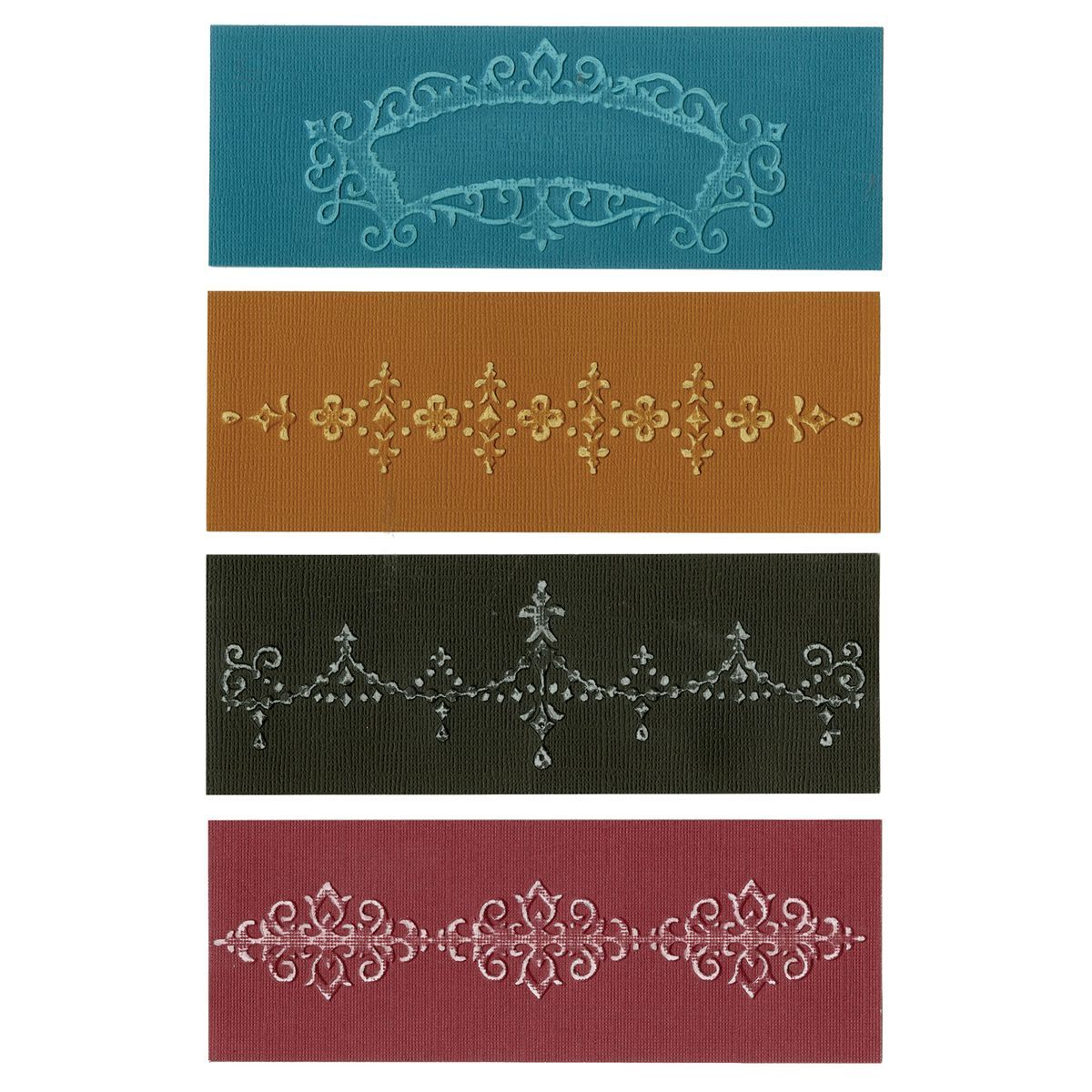 Sizzix-Textured Impressions A6 Embossing Folders. Embossing your sentiments and images lends your creative impulses a little added advantage- you achieve the look of a professional paper craft designe