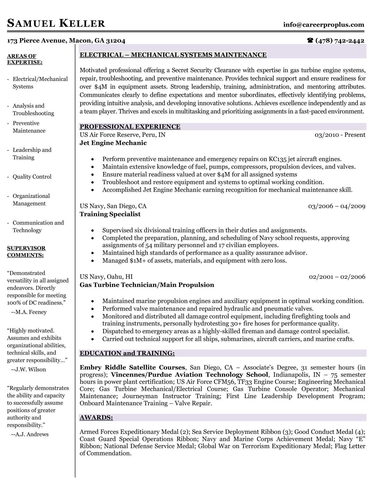 Military Resume Writers Best Military Resume Samples & Examples In 2014  Mrw  Resumes .