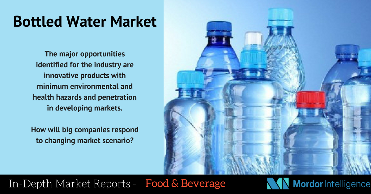 The bottled water industry was valued at USD 185 billion