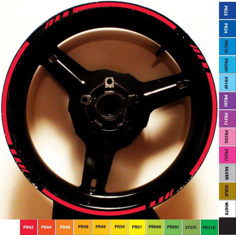 MOTORCYCLE BIKE CAR RIM STRIPE WHEEL DECAL TAPE STICKER Cool - Vinyl stripes for motorcyclesred rim tape decals motorcyclewheel vinyl stickers stripes