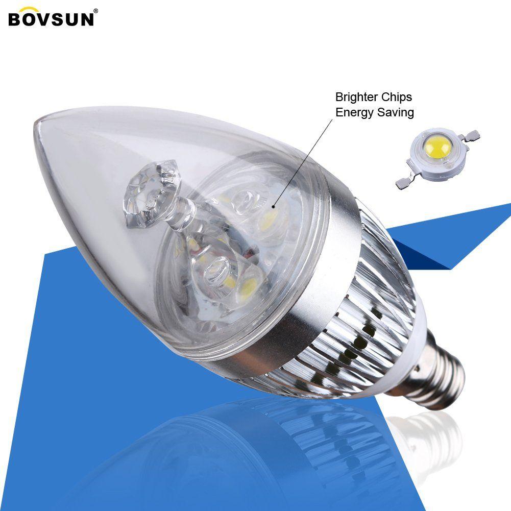 Bovsun Led Candelabra Bulb 3w 25w Incandescent Equivalent Candle Light Warm White 3000ke12 Base Torpedo Sh Led Candelabra Bulbs Candelabra Bulbs Led Light Bulb