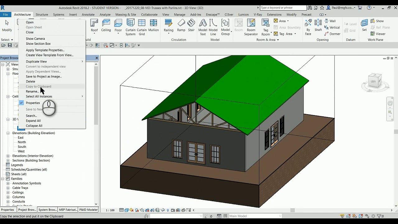 Create Roof Trusses with Purlins in Revit | Revit | Roof