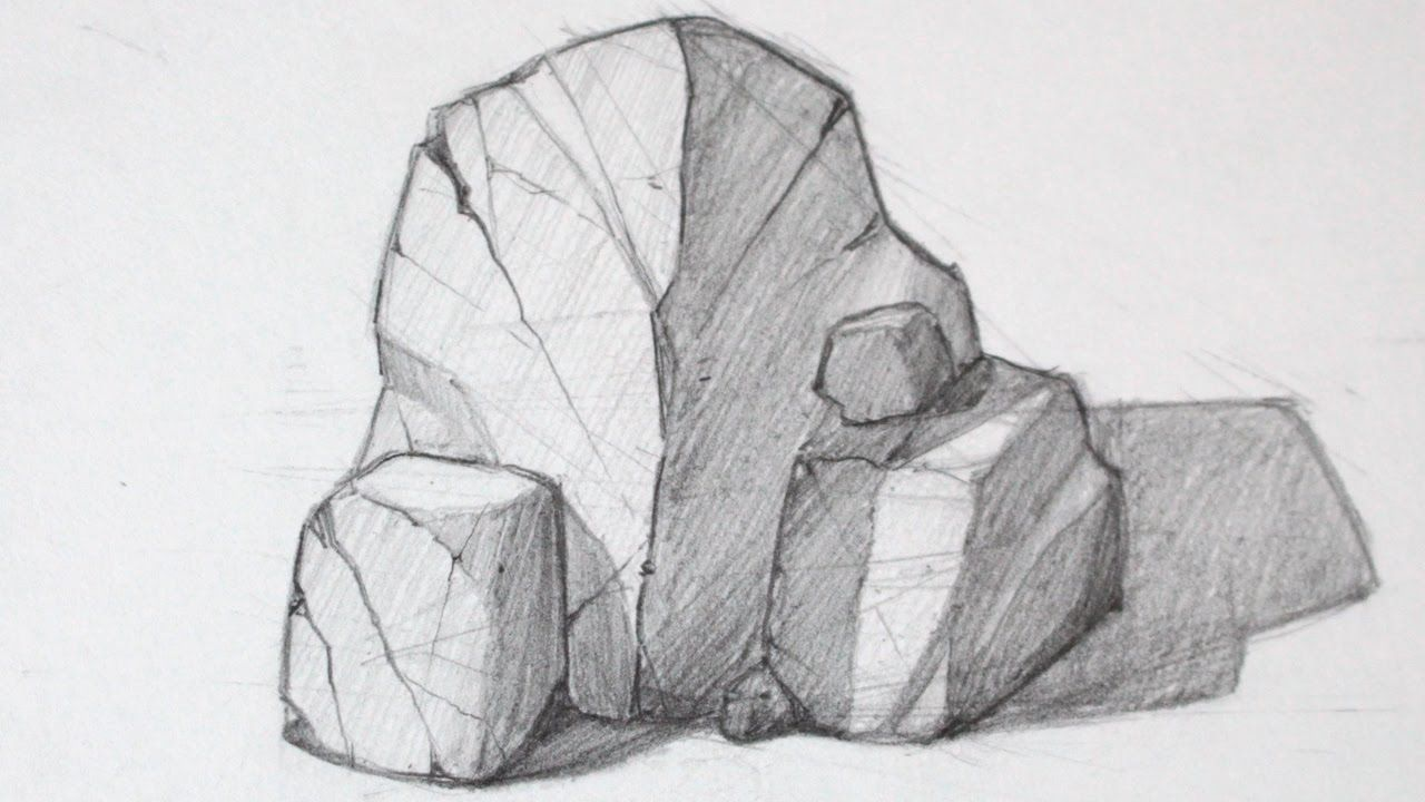 How To Draw Rocks Basic Shapes Drawing Rocks Space