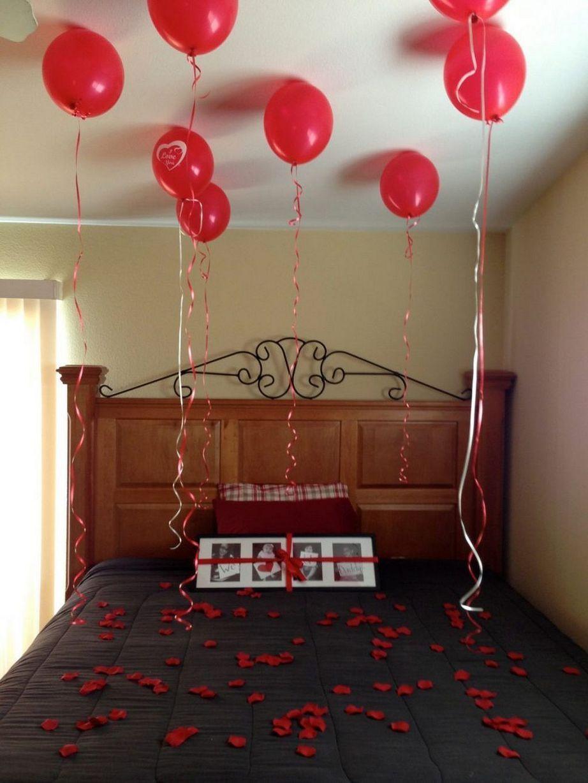 Stunning Diy Romantic Valentine Days Decorations Ideas 25 Inspira Spaces Valentines Bedroom Valentine Bedroom Decor Valentines Day Gifts For Him Marriage