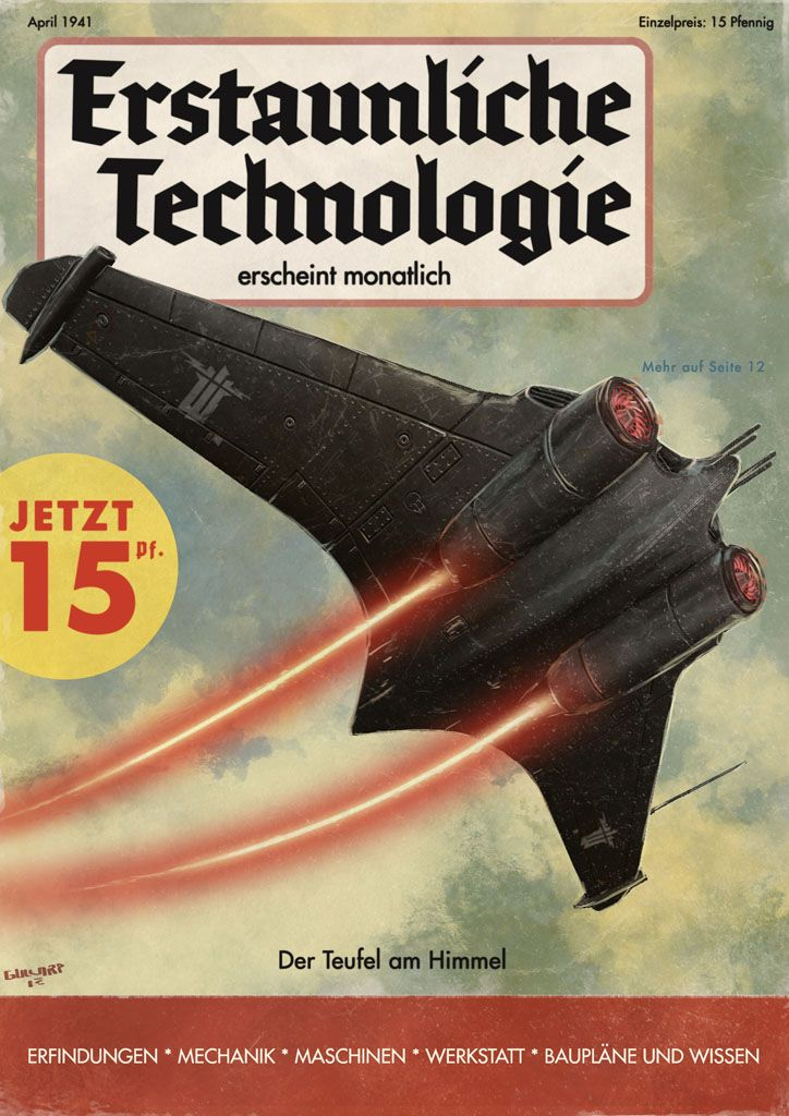 Einblicke in die Magazine und Plakate einer Zeit, die es nie gab #sciencehistory