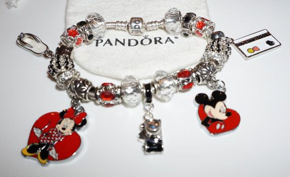 Mickey Minnie Happy Authentic Jared Pandora Bracelet by xdempseyx