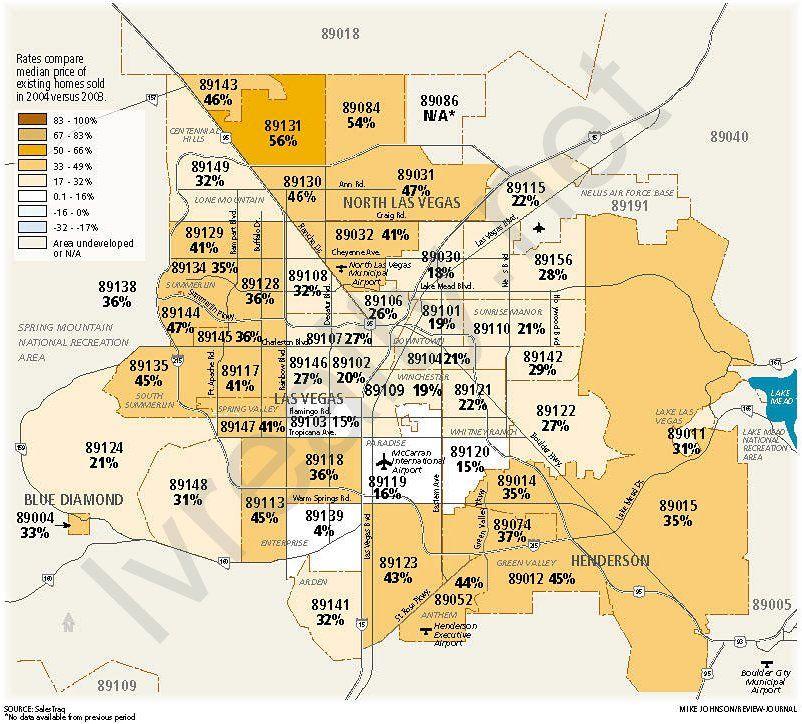 Las Vegas Zip Code Map Printable  zip realty las vegas ziprealty