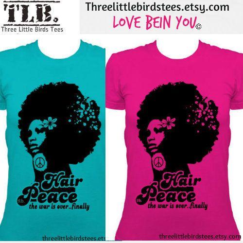 Hair Peace Tshirt by ThreeLittleBirdsTees on Etsy, $19.95