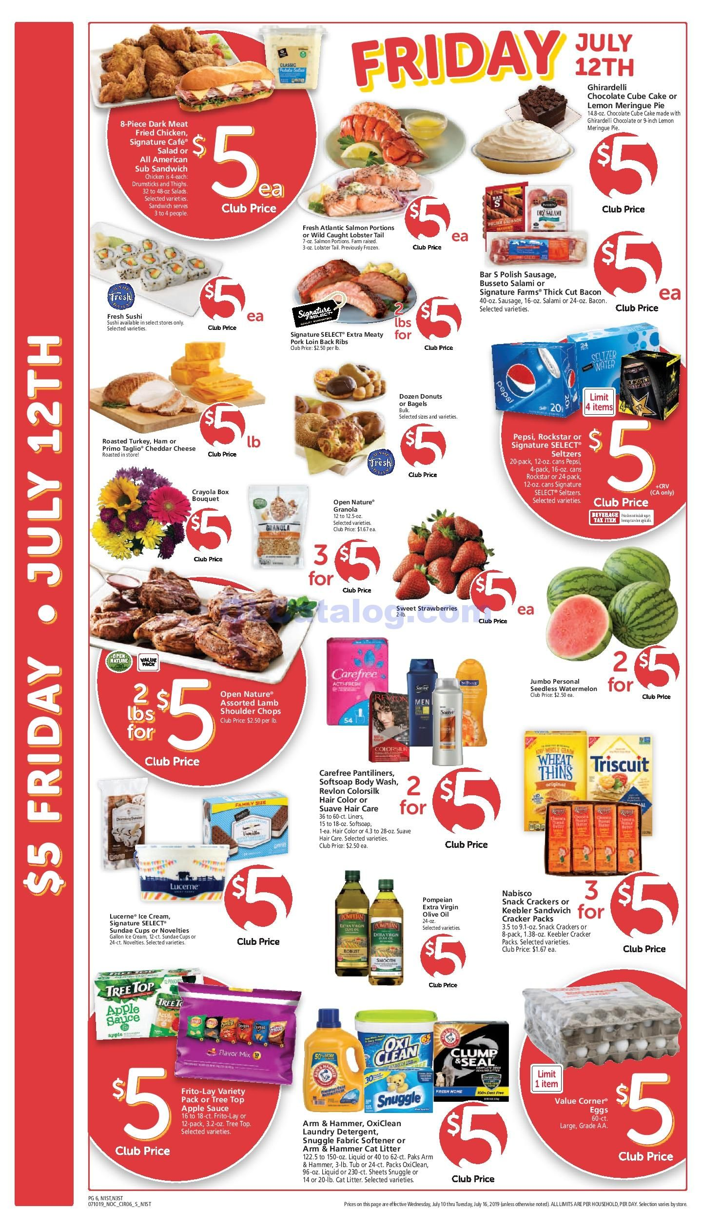 Safeway 5 Friday Ad Mar 20th, 2020 Weekend Sale Preview