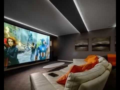 How To Decorate Media Room Interior Design?   Home Entertainment / Media.