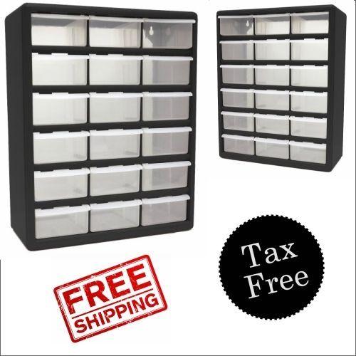 18 Drawer Plastic Storage Organizer Cabinet Large Parts