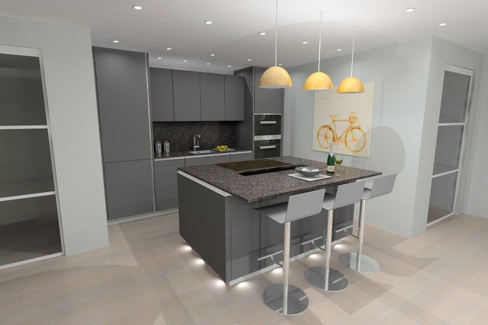Lava Grey matt laminate kitchen Kitchen ideas Pinterest Lava - haecker lack matt schwarz