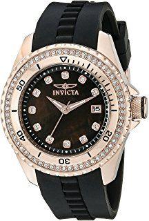 Invicta Women's 21382 Wildflower Analog Display Quartz Black Watch