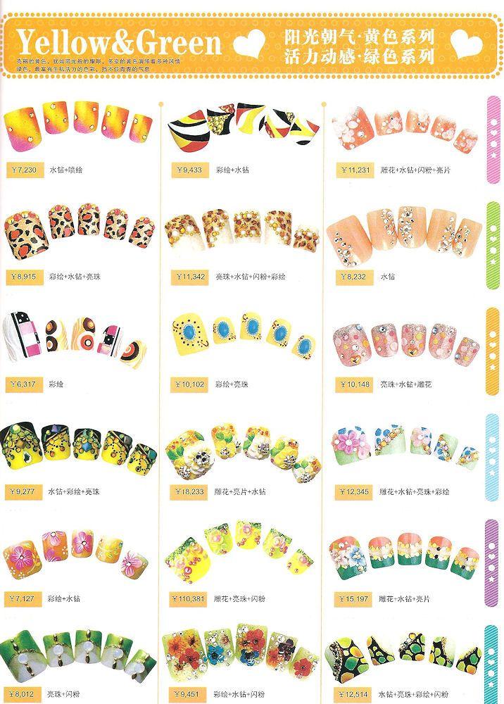 yellow-green-nail-art-2.jpeg (716×1000)   Manicure Inspiration ...