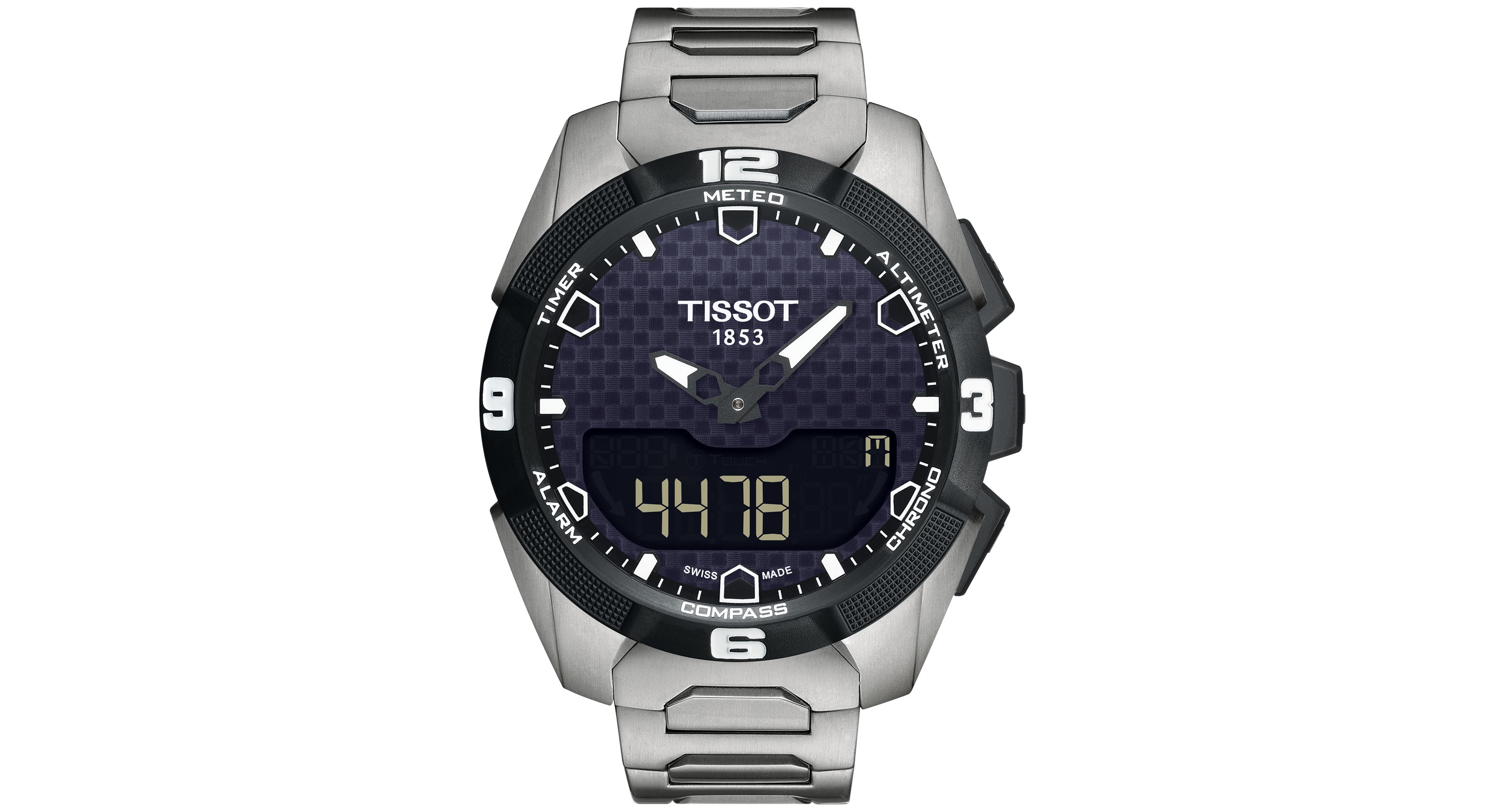 Men S Swiss Analog Digital T Touch Expert Solar Titanium Bracelet Watch 45mm T0914204405100 Tissot T Touch Watches For Men Best Watches For Men