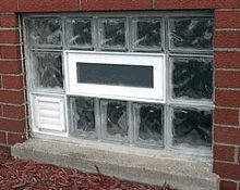Glass Block Windows With Dryer Vent Glass Block Windows Glass Blocks Windows And Doors