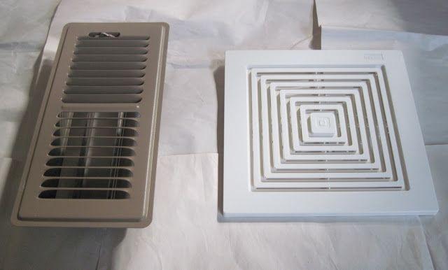 Spray Paint Floor Registers And Fan Exhaust Covers Bathroom Exhaust Fan Cover Bathroom Exhaust Fan Bathroom Exhaust