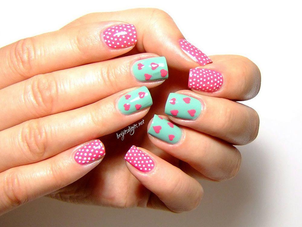 70 Fotos de uñas decoradas para la primavera – Spring Nail art ...
