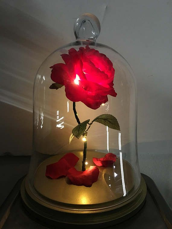 Disney Inspired Enchanted Rose Life Size Beauty And The Beast